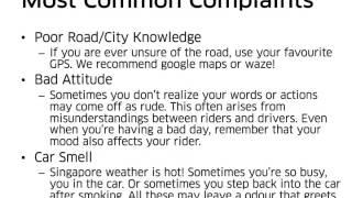 Uber Singapore Driver Etiquette Training