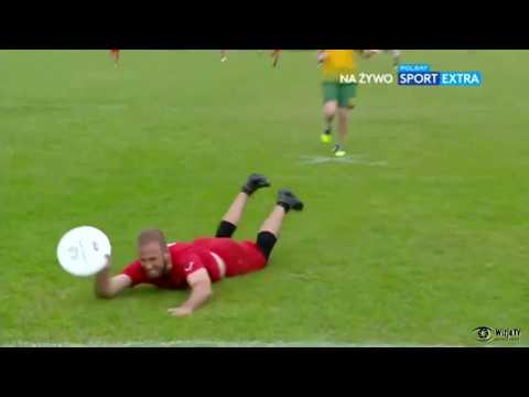 Geoff Powell's full-speed full-stretch layout on a full-field throw for Canada vs Australia