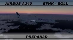 Helsinki - Lontoo · A343 · P3D