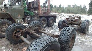 Урал лесовоз Ремонт ''Колхозного'' полуприцепа