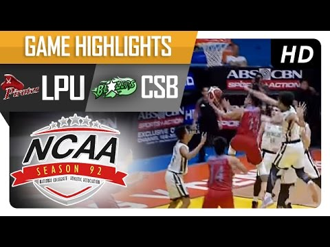 CSB vs LPU | Game Highlights | NCAA 92 - July 21, 2016