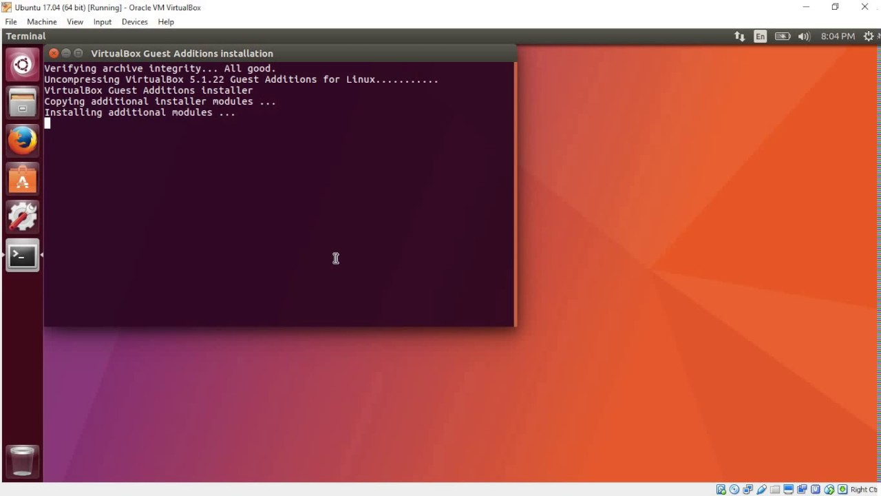 les additions invités virtualbox ubuntu