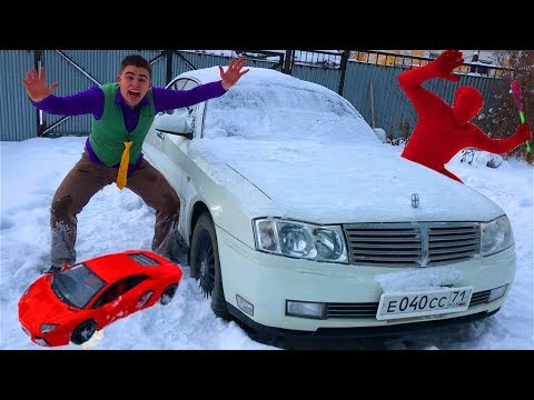 Magician Red Man Bewitched Toy Car VS Mr. Joe On Nissan Cedric W/ Magic Wand For Kids