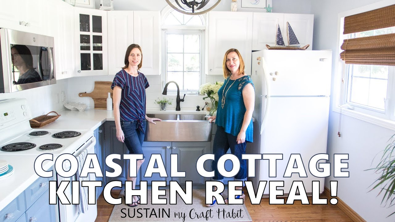 Coastal Cottage Kitchen Makeover Reveal Tour The Graystone Beach Remodel Youtube