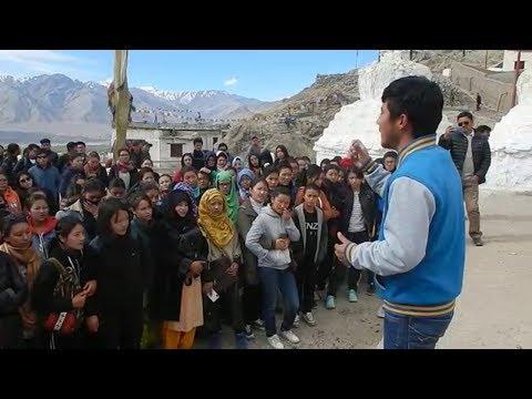 Student protest in Leh demanding separate Ladakh Univ