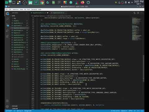 tự học vulkan c++ ep29: texture image 4/4 (Manjaro KDE)