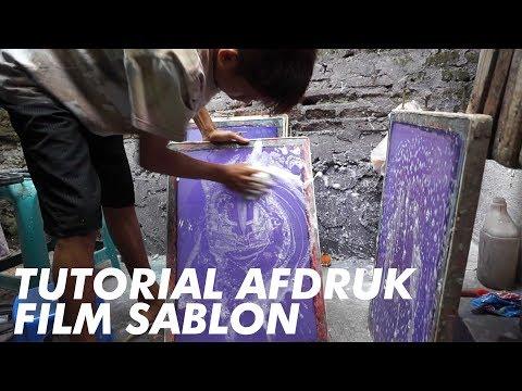 TUTORIAL AFDRUK FILM SABLON #TRIDEWORLD
