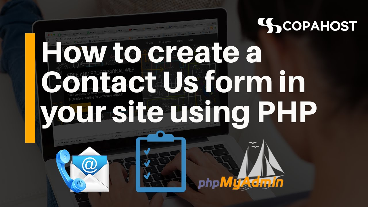 how to make a contact form using php