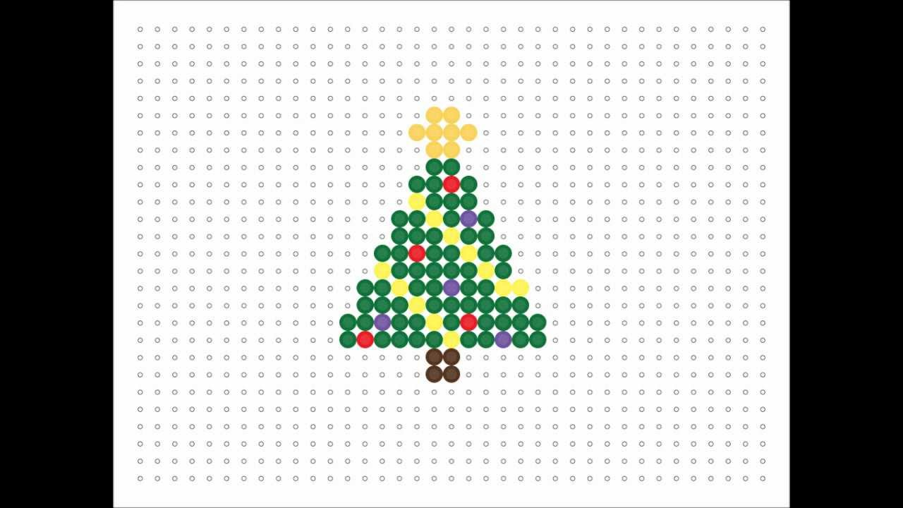 Christmas Hama Bead Designs.Christmas Tree Perler Beads Pattern Thecannonball Org