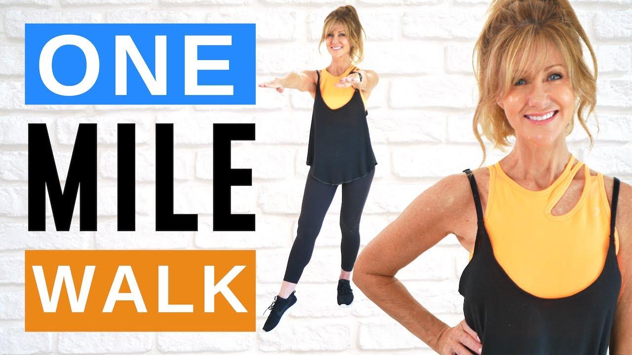 1 Mile Walk | Indoor Walking Workout | Fabulous50s 14 Day Challenge!
