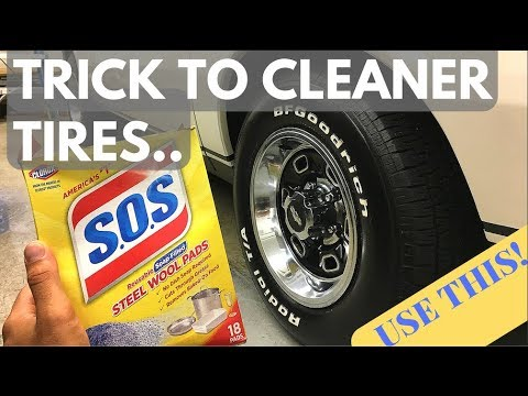 BEST way to clean Tires & White Lettering! - USE THISSS