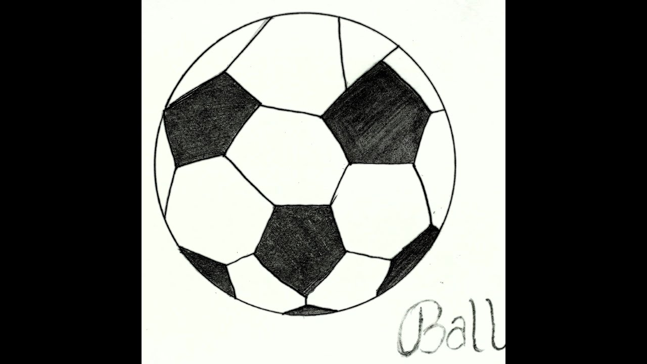 How To Draw Ball How To Draw Football ब ल क स