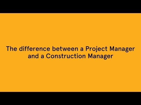 Project Manager Vs Construction Manager