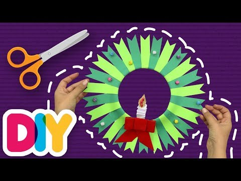 CHRISTMAS WREATH 🎄 Paper Plate Craft | Fast-n-Easy | DIY Arts & Crafts for Parents