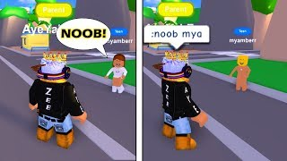TURNING PEOPLE NOOBS IF THEY CALL ME A NOOB IN ROBLOX - ROBLOX SOCIAL EXPERIMENT/PRANK