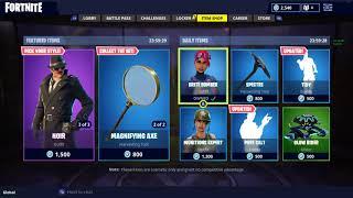 Fortnite item shop 7/1/18 NEW *DETECTIVE* SKINS