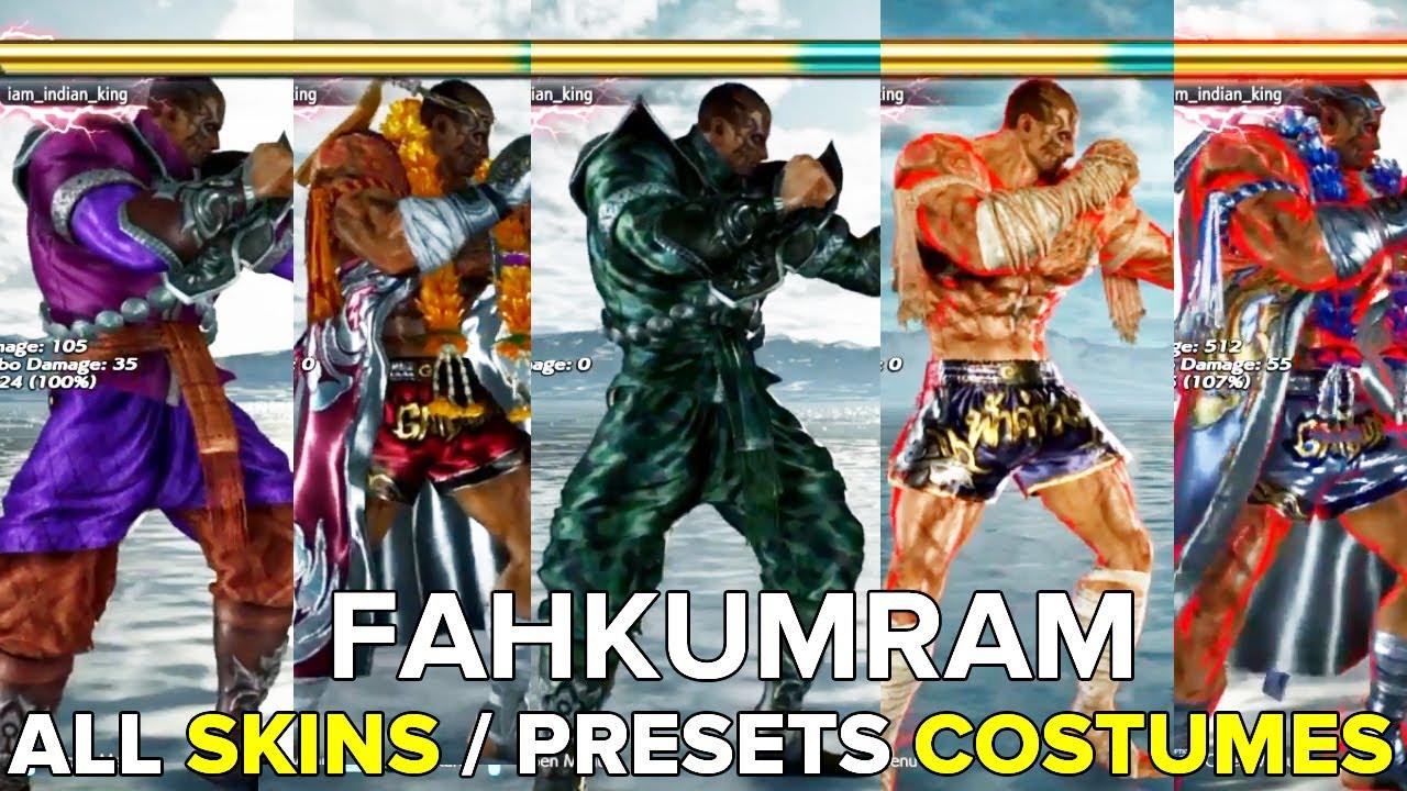 Tekken 7 Fahkumram Skins Presets Costumes Youtube