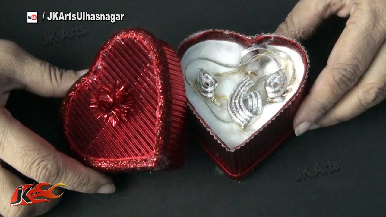 diy valentines day heart gift box how to make jk arts 831 youtube - Valentines Gift Boxes