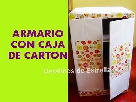Armario con cajas de carton reciclado youtube for Cajas para guardar ropa armario