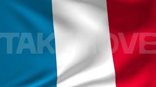 【sample cg0010 フランスの国旗CG】無料3DCG動画素材サンプル