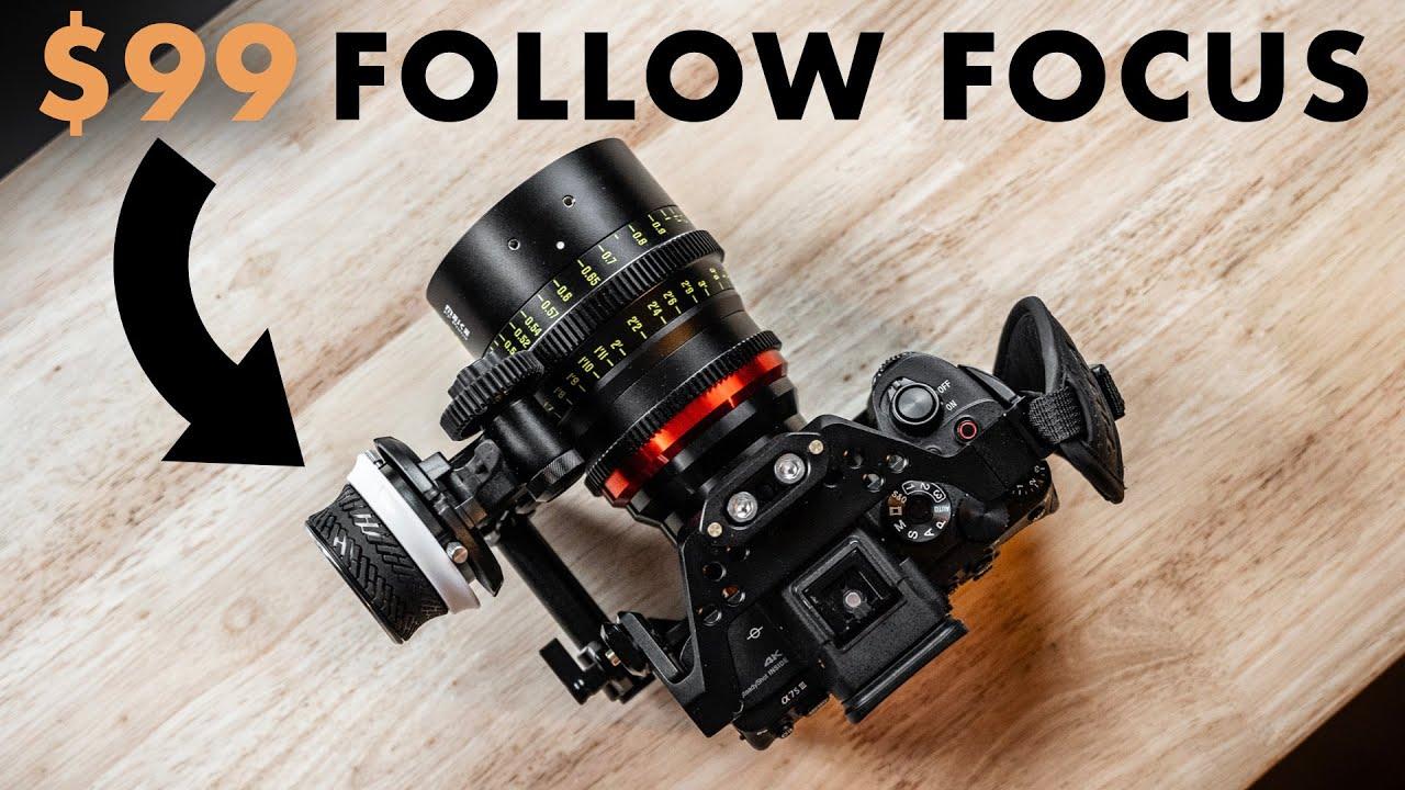 SmallRig Mini Follow Focus - Attaches to ANY camera cage