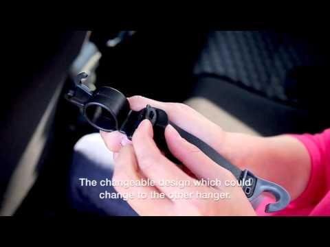Vehicle Umbrella hooks Car hanger for Bag, Purse Hypersonic HP3520
