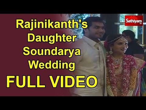 Rajinikanth's Daughter Soundarya Wedding Exclusive Full video | Soundarya - Vishagan Marriage