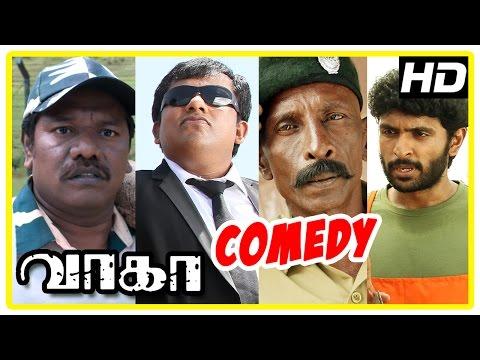 Wagah Tamil Movie | Comedy Scenes | Vikram Prabhu | Ranya | Karunas | Sathyan | Rajendran