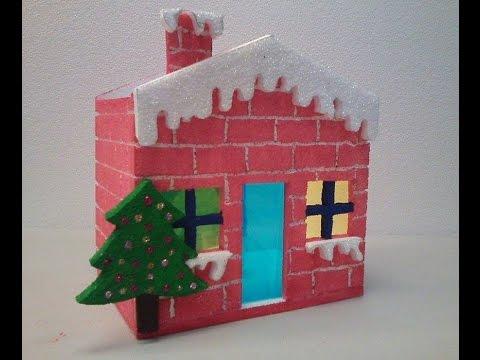 Casa navide a casa para alumbrado moldes farol parte for Cosas navidenas para hacer en casa