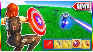 Using EVERY Avengers Weapon in ONE Game! (Fortnite New Avengers END GAME Gameplay)