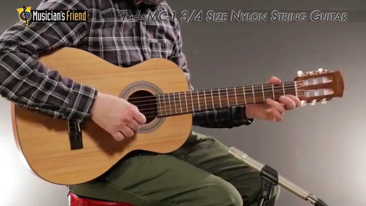 fender mc 1 3 4 size nylon string guitar youtube. Black Bedroom Furniture Sets. Home Design Ideas