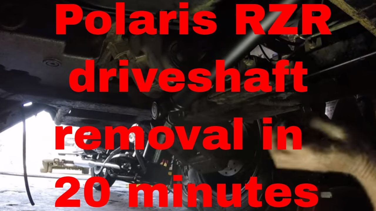 medium resolution of polaris rzr driveshaft removal in 20 minutes