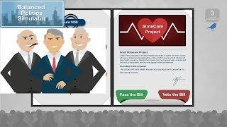 + Video Games & Politics + Let's Play Balanced Politics Simulator +
