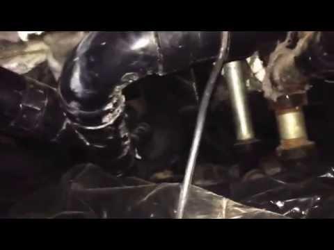 Crawl space waste plumbing