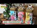 Floral Jar Makeover - Upcycle DIY