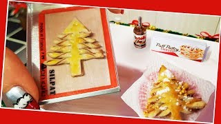 Mini puff Pastry Christmas tree / Miniature cooking / Mini Food / Jenny's mini cooking / 食べれるミニチュア