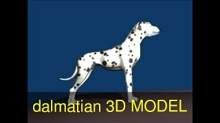 3D Model of dalmatian Review