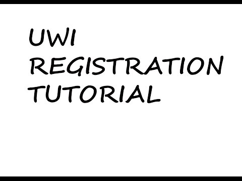 University Of The West Indies (UWI) Registration tutorial