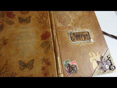 Art Journal Book - DIY Vintage Book - PaperArtsy Challenge