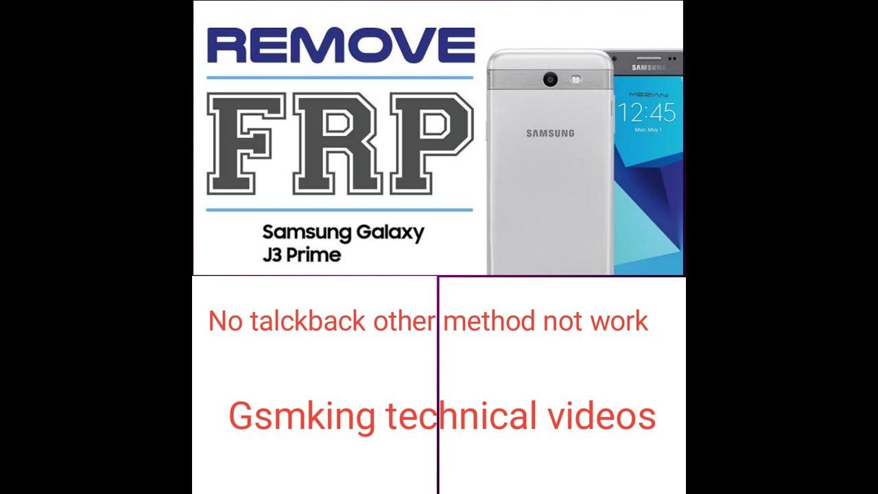 samsung j3 prime  j327t frp bypass google account remove no talkback no sim all method failed