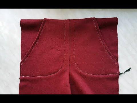 DIY Sewing course How to sew easy pocket. To trousers. Jak uszyć łatwą kieszeń do spodni