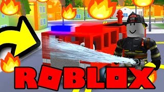 ROBLOX FIRE FIGHTING SIMULATOR !! 🚒 Fire Truck + Spawn Fires