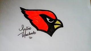 How to Draw Arizona Cardinals Logo [NFL] REPOST