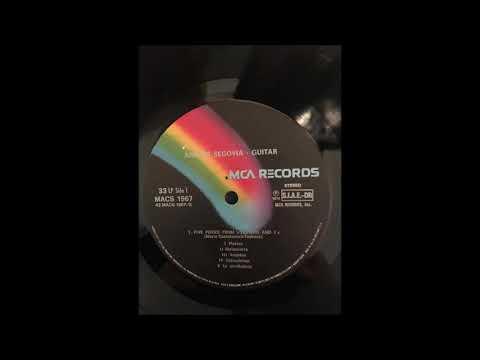 Andrés Segovia - Guitar [FULL ALBUM] LP 1974