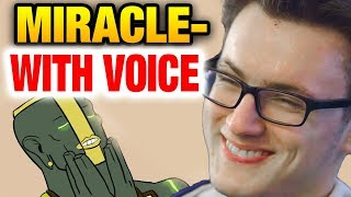 MIRACLE- WITH VOICE - Earth Spirit IS LEGIT Dota 2