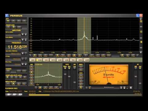 "11518 kHz ""WAZU"" Shortwave Pirate Radio Station Heard in Michigan on Perseus SDR + D-KAZ Antenna"