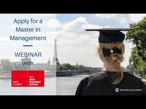 Apply for a Master in Management with emlyon bs