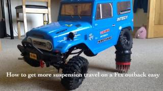 how to get more suspension travel on a ftx outback easy
