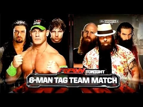 WWE 2014 Raw John Cena, Dean Ambrose & Roman Reigns Vs The W
