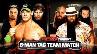 WWE 2014 Raw John Cena, Dean Ambrose & Roman Reigns Vs The Wyatt Family